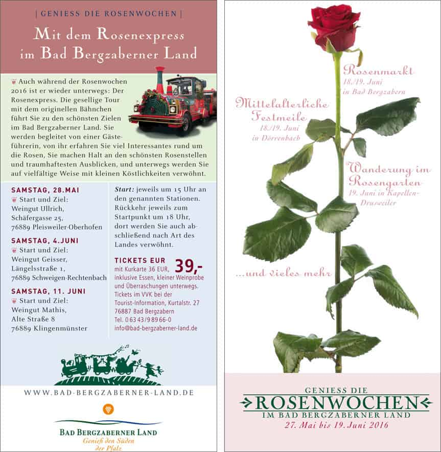 Rosen Express 2016 Bad Bergzaberner Land